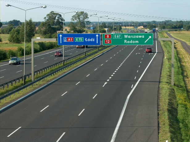 Węzeł autostrady A1 i drogi S8