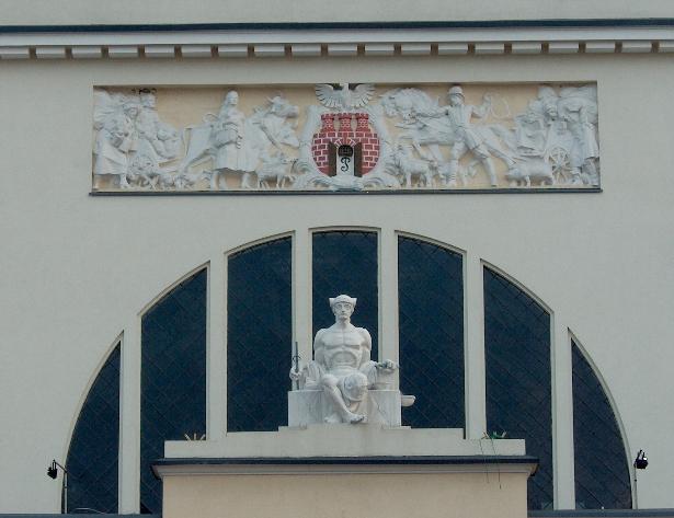 Fasada Hali Targowej Piotrków Trybunalski