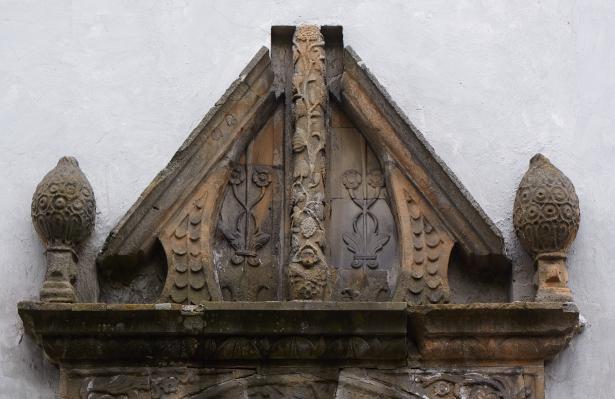 Pałac w Bykach ozdobna architektura