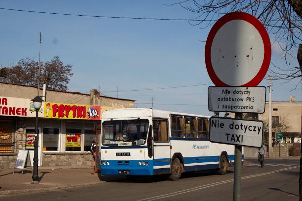 Autobus w Sulejowie
