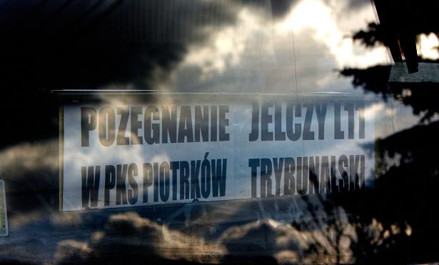 Pożegnanie Jelczy L11 w PKS Piotrków Tryb.