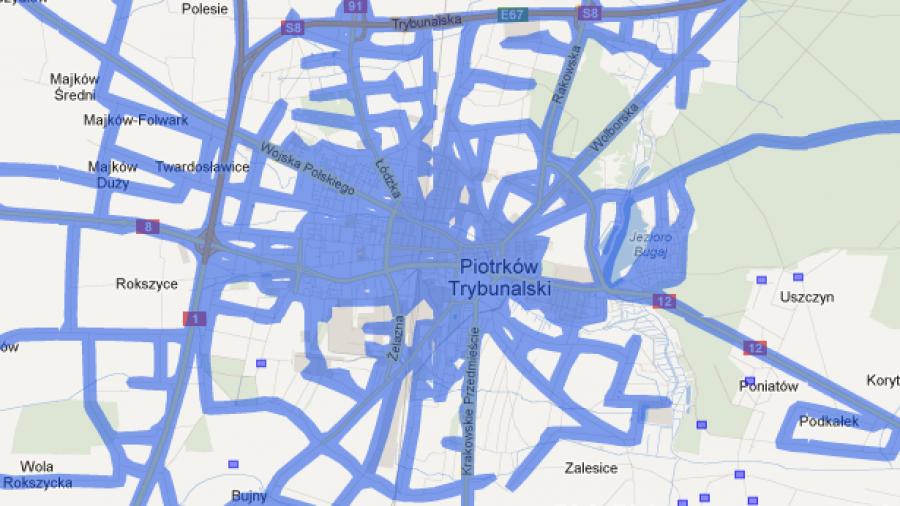 Piotrków Trybunalski już dostępny na Google Street View